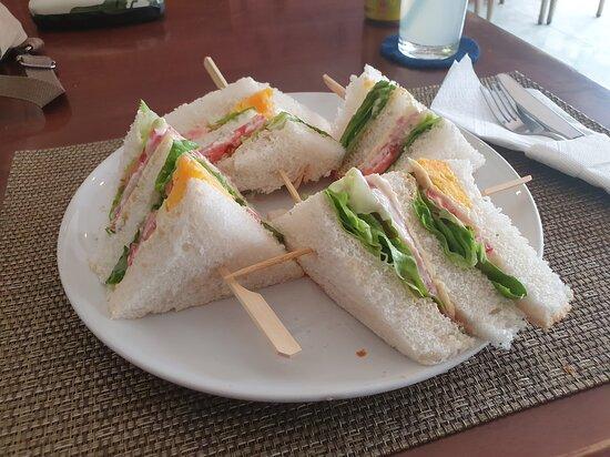 Club Sandwich # YOKOTAI Restaurant on Khon Kaen City, Issan, Thailand