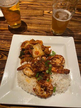 Spicy Shrimp with Kimchi
