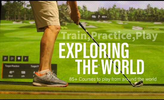 Play over 100 courses on Trackman Simulators in Burlington Ontario