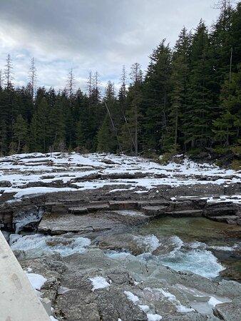 McDonald Creek between Sacred Dancing Cascade and Avalanche