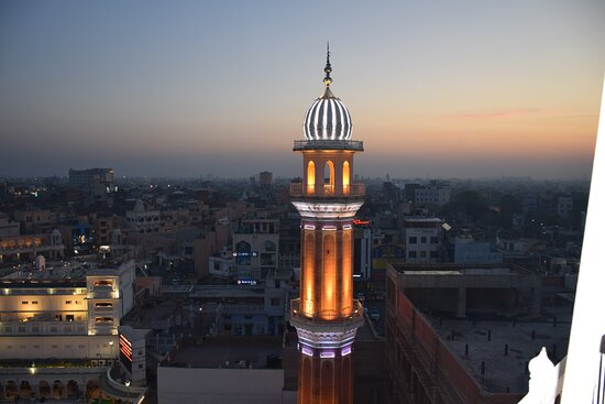 The eastern Ramgarhia Bunga as beacon over the city of Amritsar