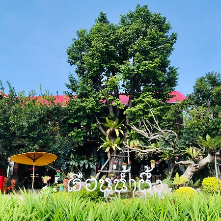 Hua Hin, Thailand: Such a beautiful place here, Great gardens,waterfall ,flowers and orchids good for relax,Lanna Style, not far from Huaymonkol Temple‼️ 🌞🌺🌻💐🌿🍀🍃✨🌈  #เรือนน้ำผึ้งคาเฟ่หัวหิน