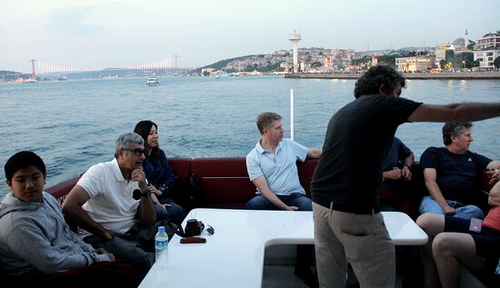 See Istanbul Strait, the Bosphorus by dusk and enjoy the stunning Istanbul landmarks as the sun sets and the city lights come to life. There is no better way to experience the Bosphorus than from the water. Come on board and experience an intimate and relaxed 2.5-Hours cruise that showcases the best of Istanbul by dusk. With maximum passenger numbers of 35, you will enjoy 360° uninterrupted views of the most beautiful waterway that divides Istanbul into two parts.  www.sunsetcruiseistanbul.com