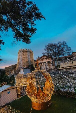 Beautiful Christmas Market at Trsat Castle in Rijeka. Croatia