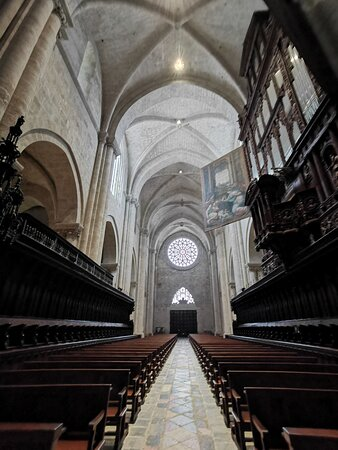 View of the nave with the Cathedral organ.