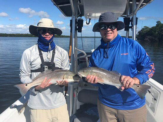Everglades National Park, Chokoloskee, 10,000 Islands Inshore Fishing Charters: Doubled up on some Reds!