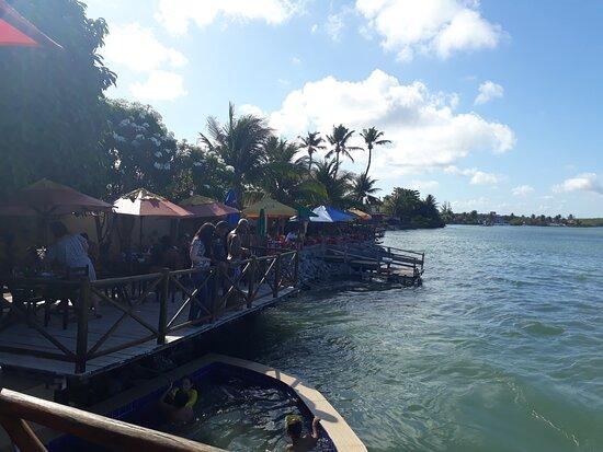 Vista do rio / deck.