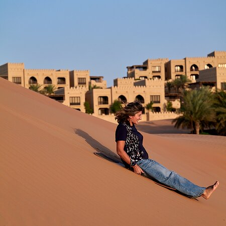 Sand-boarding in the dunes, highly recommended