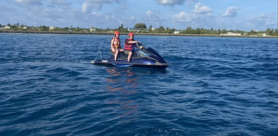 Jet Skiing, scary fast but amazing!