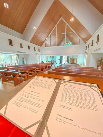 The church before the mass starts