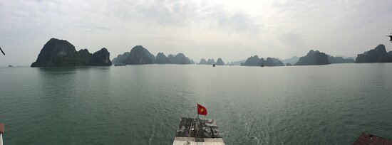 Panoramic view taken from the boat, on my iPhone, in the morning