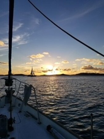 All Inclusive St. John Day Sail: Beautiful sunset from Captain Mike's boat