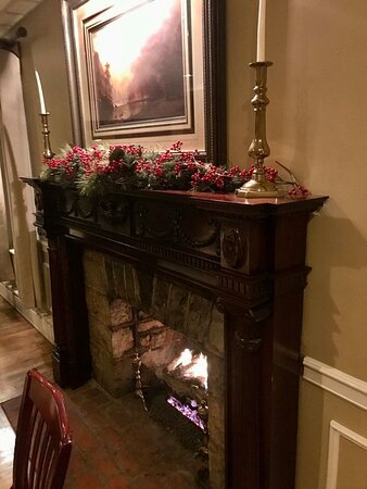 Creed's fireplace