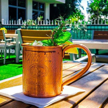 A slight twist on a classic, our Tito's Garden Mule.