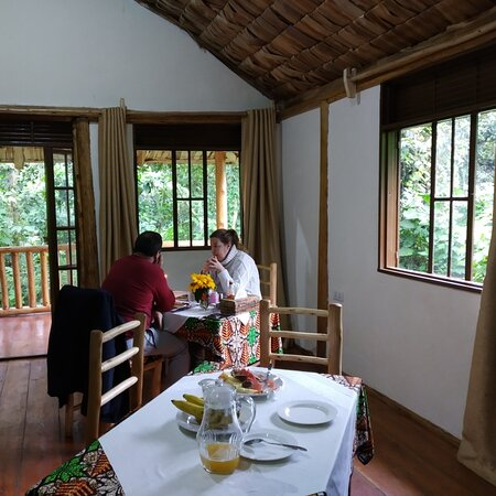 Bwindi Impenetrable National Park, Uganda: Dinning with out first clients after Covid 19 lockdown