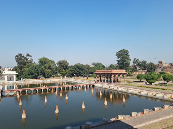 This is the central lawn with a pool of water and fountains. The view and the atmosphere is such that you can just sit and relax for long time on a side of this pool.