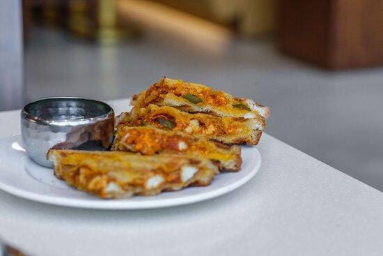 Panjim, Ấn Độ: Paneer Tikka + Mayonnaise Sandwich