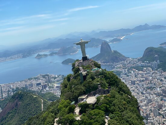 Private Helicopter Tour for 2 People - Classic Rio Tour Route (25-30min): Stunning shot of C the R from Riocopter
