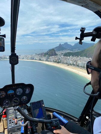 Private Helicopter Tour for 2 People - Classic Rio Tour Route (25-30min): View from the Riocopter cockpit.