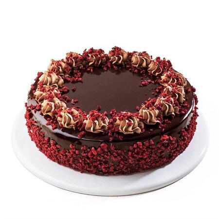 POSNA VIŠNJA (1kg/2kg):  Posna čokoladna torta sa čokoladnimfilom, osvežvajućim višanjama i vazdušastim čokoladnim korama.  VEGE CHERRY (1kg/2kg):  A vege cake with chocolate filling, refreshing cherries, and light airy chocolate crusts.