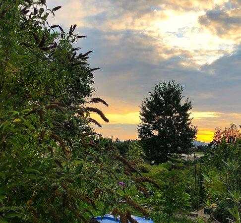 Herrliche Abendstimmung, vom Garten des Schiff aus betrachtet