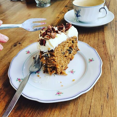 Sweet treats available at Celebration Cafe. Our delicious carrot cake !