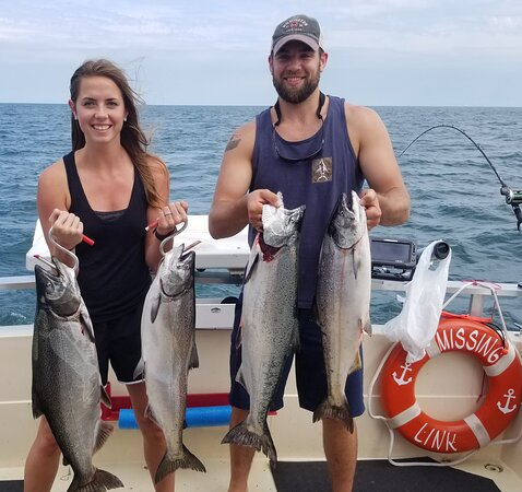Wilson, NY: Happy Family is what it's all about with 1st Choice Fishing Charters