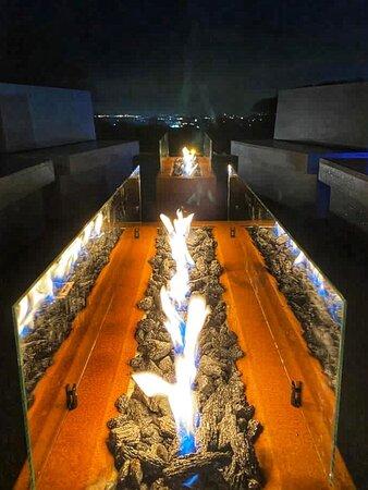 Firepit at BAZAAR Spa