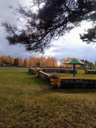 Детская площадка на базе.