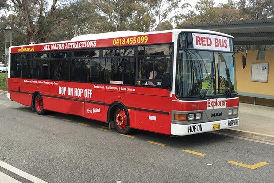 Canberra's Red Explorer Loop Bus