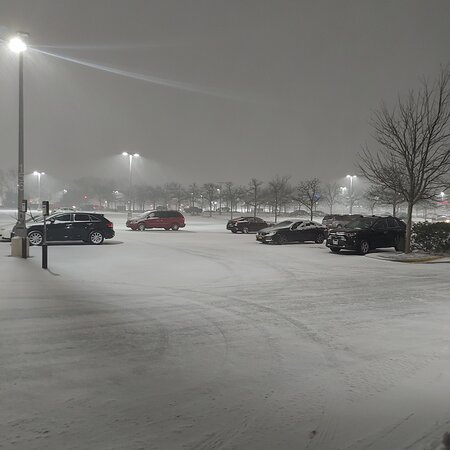 The snow has started on Long Island.