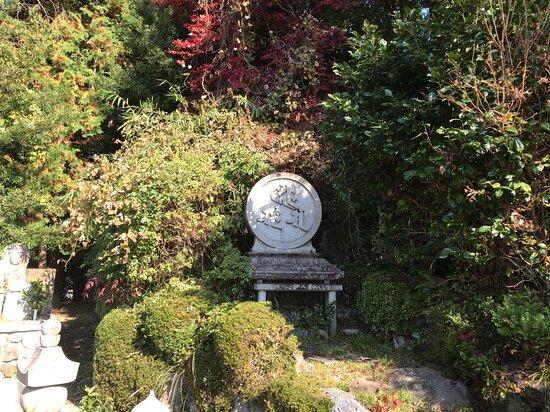 供養塔に隣接した墓所エリアの奥にありました。(広大な墓所は極力撮してません)