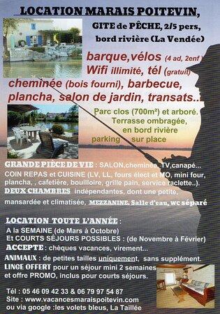 La Taillee, فرنسا: Informations sur notre gîte de pêche en location 