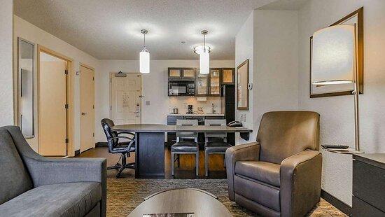 One Bedroom suite Living Room kitchen