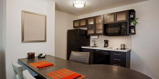 Suite Work Area and Kitchen