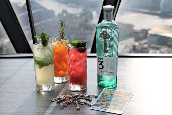 Searcys Gherkin cocktails