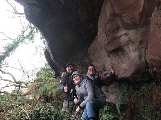 Great Cumbrae, UK: us in the Cave