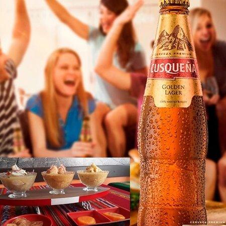 Todo no seu tempo! Trio de Ceviches + Cerveja Cusqueña
