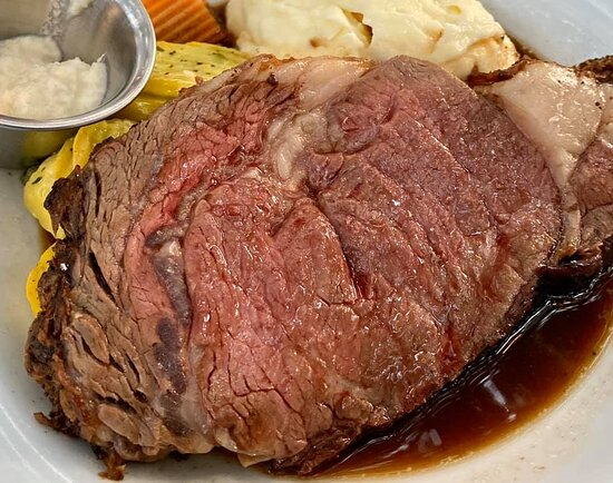 Prime Rib...... WOW... Twice Baked Potato and Creamed Spinach