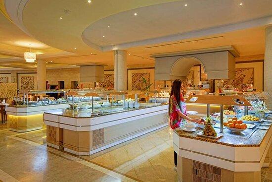 Steigenberger Marhaba Thalasso, Hammamet, Tunesien - Buffet, main restaurant