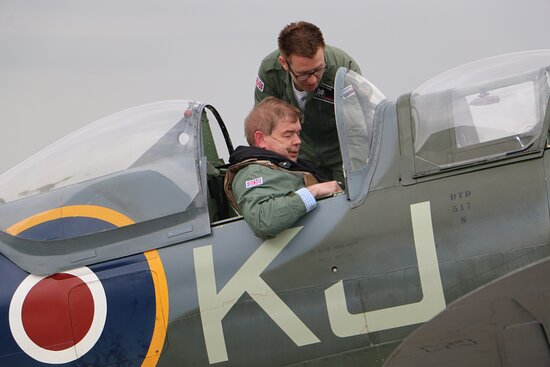 When you land you have the Spitfire smile!