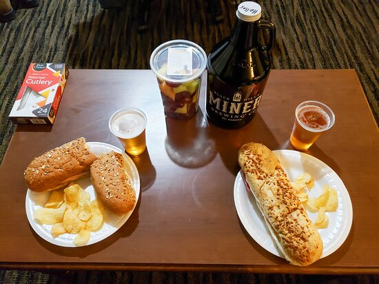 Our relaxing dinner in the room after a busy day.