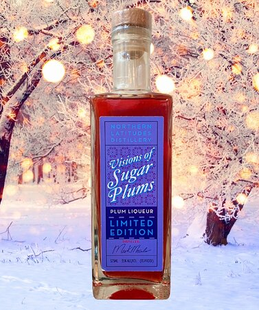 NLDs latest release, VISIONS OF SUGAR PLUMS Plum Liqueur! Flavored by 2 different local plum varieties for Leelanau Grant Farms! This is a limited release and may never be made again. THAT is up to Mark! :)