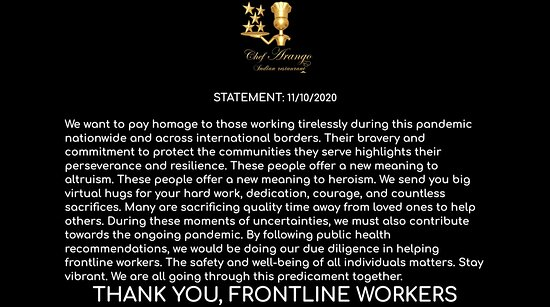 Los Angeles, CA: Thank you, Frontline workers!