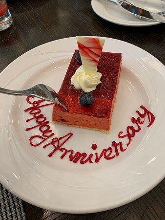 Had an amazing anniversary breakfast.
