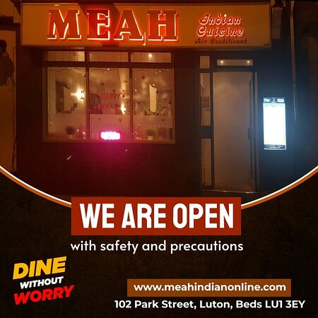 We are open with more safety and precautions!  Dine at Meah without any worries.✌️