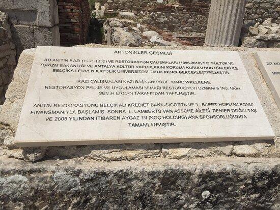 Sagalassos  Antik Kenti yapımın da emeği geçenler unutulmamış