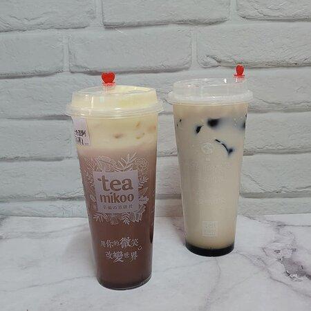 芝士奶蓋阿華田 $30 & 黑糖仙草凍鮮奶 $29