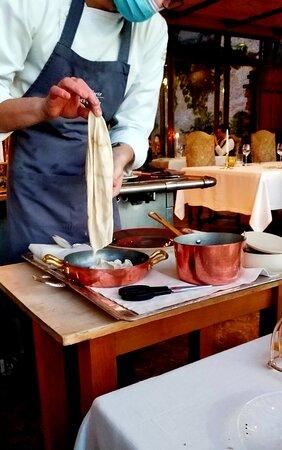 I ravioli di fagiano cotti in vescica