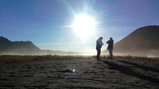 A moment after sunrise in Bromo Tengger Semeru national park